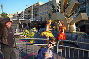 France, Nice, 15 February 2017. Carnaval de Nice, scene after the Flower Parade.