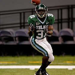 Sep 12, 2009; New Orleans, LA, USA;  Tulane Green Wave running back Payten Jason (31) before a game against the BYU Cougars at the Louisiana Superdome.  BYU defeated Tulane 54-3. Mandatory Credit: Derick E. Hingle-US PRESSWIRE