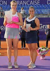 May 26, 2018 - France - Internationaux de tennis de Strasbourg - Anastasia Pavlyuchenkova Russie Dominica Cibulkova Slovaquie (Credit Image: © Panoramic via ZUMA Press)