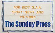 All Ireland Senior Hurling Championship Final,.Programme,.02.09.1951, 09.02.1951, 2nd September 1951,.Wexford 3-9, Tipperary 7-7,.Minor Cork v Galway, .Senior Wexford v Tipperary, .Croke Park, ..Advertisements, The Sunday Press,