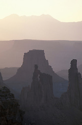Canyonlands National Park, UT.Washerwoman arch as seen from near Mesa Arch.  Island in the Sky district.