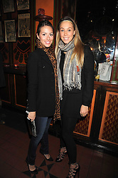 Left to right, SASKIA BOXFORD and MELISSA MILLS at a Supper Club event at Nakita, Ifield Road, London SW10 on 13th November 2008.