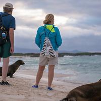 Scene at Cerro Brujo on San Cristobal Island in the Galapagos Islands of Ecuador.