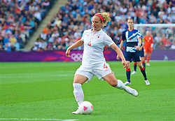 COVENTRY, ENGLAND - Friday, August 3, 2012: Canada's Carmelina Moscato during the Women's Football Quarter-Final match between Great Britain and Canada, on Day 7 of the London 2012 Olympic Games at the Rioch Arena. Canada won 2-0. (Photo by David Rawcliffe/Propaganda)
