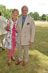 CHRISTINE & NEIL HAMILTON at the Flannels For Heroes cricket competition in association with Dockers held at Burton Court, Chelsea, London on 19th June 2015