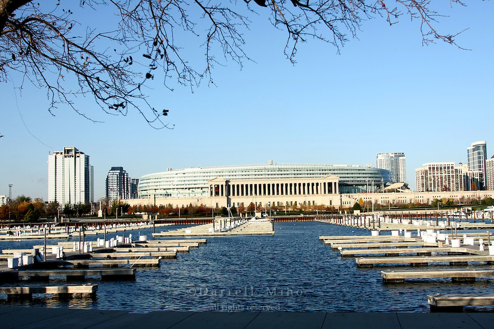 Nov. 08, 2008; Chicago, IL - Soldier Field and Burnham Harbor...Photo credit: Darrell Miho