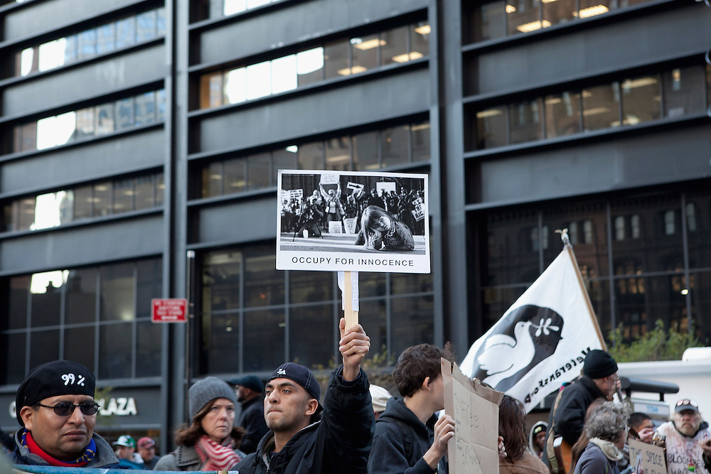 New York, NY: Zuccotti Park, Occupy Wall Street signage