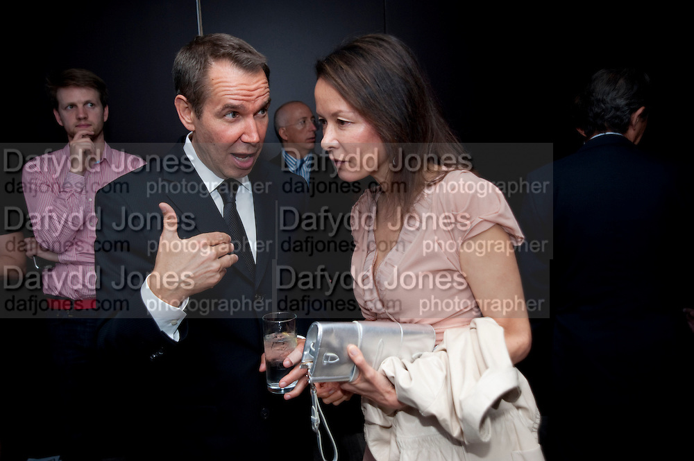 JEFF KOONS; ALMINE RUIZ-PICASSO, Dinner hosted by Julia Peyton-Jones and Hans Obrist for the Council of the Serpentine to celebrate: Jeff Koons, Popeye Series. Paramount Club, Paramount Centre Point. London. 30 June 2009