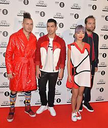 Cole Whittle, Joe Jonas, JinJoo Lee, Jack Lawless bei den BBC Radio 1 Teen Awards in London / 231016<br /> <br /> *** BBC Radio 1 Teen Awards in London on October 23, 2016 ***