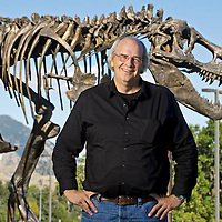 Paleontologist Jack Horner stands by Big Mike at the Museum of the Rockies on Sept. 20, 2011 in Bozeman, Mont.