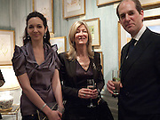 CELIA WEINSTOCK; HON MRS. LAURA WEINSTOCK; GILES HUTCHINSON, An exhibition of watercolours by William Rayner at Mallet's, New Bond St. Party afterwards at Bellami's, bruton Place. London. 16 June 2010. .-DO NOT ARCHIVE-© Copyright Photograph by Dafydd Jones. 248 Clapham Rd. London SW9 0PZ. Tel 0207 820 0771. www.dafjones.com.