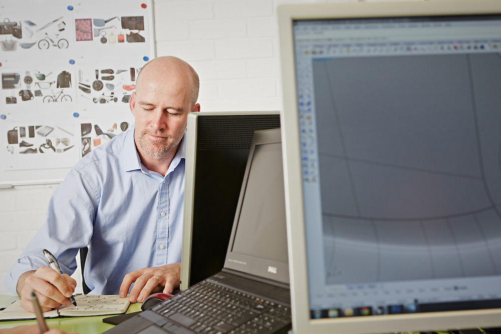 Carsten Astheimer at work in his design studio