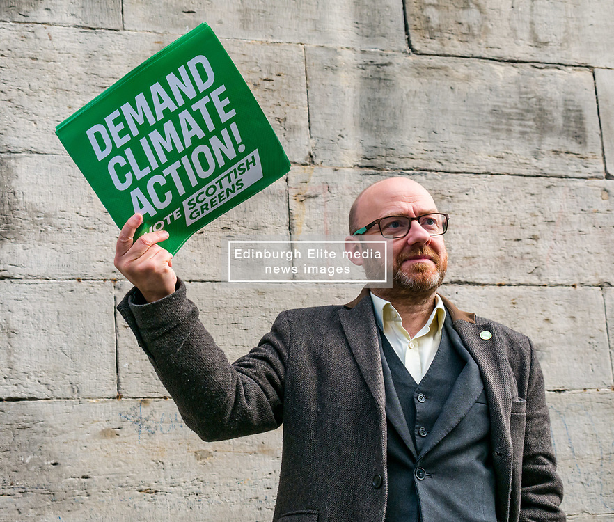 Hunter Square, Edinburgh, Scotland, United Kingdom, 28 November 2019. General Election: The Scottish Greens demand action about climate change as part of their general election campaign. Pictured: Patrick Harvie, MSP & Scottish Green Party Co-Leader.<br /> Sally Anderson | EdinburghElitemedia.co.uk
