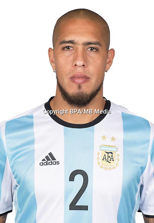 Football Conmebol_Concacaf - <br />Copa America Centenario Usa 2016 - <br />Argentina National Team - Group D -<br />Jonathan Maidana