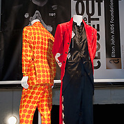 LONDON, ENGLAND - DECEMBER 11:  Clothes and Accessories directly from Sir Elton John's and David Furnish's wardorbe at the opening of the pop-up shop 'Out the Closet'  in Covent Garden, on December 11, 2009 in London, England. The shop will sell clothes from Elton John and David Furnish's wardrobes in aid of the Elton John AIDS Foundation.  (Photo by Marco Secchi/Getty Images)