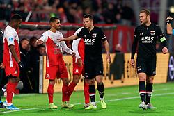 23-11-2019 NED: FC Utrecht - AZ Alkmaar, Utrecht<br /> Round 14 / Adam Maher #6 of FC Utrecht, Oussama Idrissi #11 of AZ Alkmaar, Teun Koopmeiners #8 of AZ Alkmaar