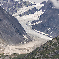 The remaining portions of the Topeka Glacier, on the Johns Hopkins Inlet, Glacier Bay National Park, Alaska