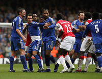 Photo: Rich Eaton.<br /> <br /> Chelsea v Arsenal. Carling Cup Final. 25/02/2007.Arsenal and Chelsea players brawl in the second half