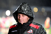 Duncan Weir dressed for the weather at the Guinness Pro 14 2017_18 match between Edinburgh Rugby and Southern Kings at Myreside Stadium, Edinburgh, Scotland on 5 January 2018. Photo by Kevin Murray.