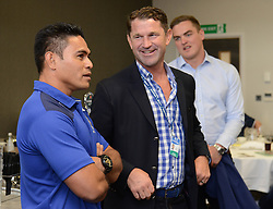 David Lemi is interviewed by Ben Breeze in the Lansdown Club - Mandatory byline: Dougie Allward/JMP - 07966386802 - 20/09/2015 - RUGBY - Ashton Gate -Bristol,England - Bristol Rugby v Nottingham Rugby - Greene King IPA Championship