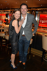 KATIE DERHAM and JOHN VINCENT at the 2014 Costa Book of The Year Awards held at Quaglino's, Bury Street, London on 27th January 2015.  The winner of the Book of The Year was Helen Macdonald for her book H is for Hawk.