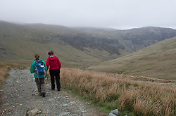 © London News Pictures. 25/05/15. London, UK. Walkers climb towards Helvellyn, Cumbria. Photo credit: Laura Lean/LNP