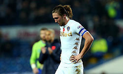 Luke Ayling of Leeds United cuts a dejected figure - Mandatory by-line: Robbie Stephenson/JMP - 31/10/2017 - FOOTBALL - Elland Road - Leeds, England - Leeds United v Derby County - Sky Bet Championship