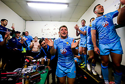 Worcester Warriors celebrate victory over Leicester Tigers - Mandatory by-line: Robbie Stephenson/JMP - 03/11/2018 - RUGBY - Welford Road Stadium - Leicester, England - Leicester Tigers v Worcester Warriors - Gallagher Premiership Rugby