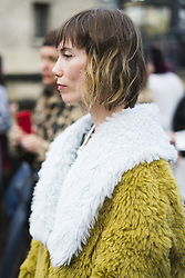 March 4, 2018 - Paris, France - Anya Ziourova is seen during Paris Fashion Week Womenswear Fall/Winter 2018/2019, on March 4, 2018 in Paris, France. (Credit Image: © Nataliya Petrova/NurPhoto via ZUMA Press)