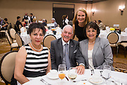 Guests pose for a photo during the Milpitas Chamber of Commerce 59th Annual Awards and Installation Banquet at Sheraton San Jose Hotel in Milpitas, California, on July 28, 2016. (Stan Olszewski/SOSKIphoto)