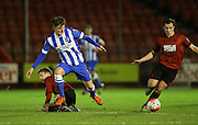 James Tilley, Brighton striker during the Barclays U21 Premier League match between Brighton U21 and U21 West Bromwich Albion at the Checkatrade.com Stadium, Crawley, England on 25 January 2016.