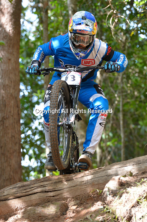 22.04.2016. Cairns,Australia. UCI Mountain Bike World Cup. Downhill qualifying.  MArcelo Gutierrez from Columbia riding for the GIANT FACTORY OFF-ROAD TEAM.