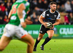 Joe Thomas of Ospreys in action during todays match<br /> <br /> Photographer Craig Thomas/Replay Images<br /> <br /> Guinness PRO14 Round 4 - Ospreys v Benetton Treviso - Saturday 22nd September 2018 - Liberty Stadium - Swansea<br /> <br /> World Copyright © Replay Images . All rights reserved. info@replayimages.co.uk - http://replayimages.co.uk