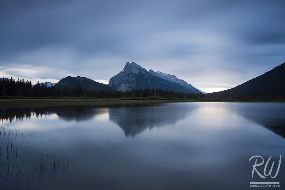 Stormy Evening at Vermillion Lakes, Banff National Park, Alberta, Canada
