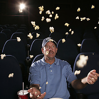 2/06/2006 --  Ocoee, FL USA.Bart Bryant watches a movies at the West Orange 5 Theater...Photo by Preston C. Mack/Redux