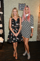 Left to right, DONNA AIR and AMBER LE BON at the launch of the new Rituals store at 29 James Street, Covent Garden, London on 1st September 2016.