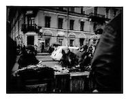 Street Vendor in Sennaya Ploshchad, St. Petersburg, Russia.
