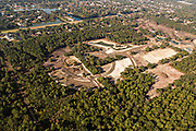 Aerial view of real estate development outside Charleston, SC.