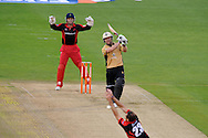 Glamorgan's Dean Cosker misses a catch off Warwickshire batsman Darren Maddy. Friends Life T20 match, Glamorgan Dragons v Warwickshire Bears at the Swalec stadium in Cardiff, South Wales on Sunday 17th June 2012. pic by Andrew Orchard, Andrew Orchard sports photography,