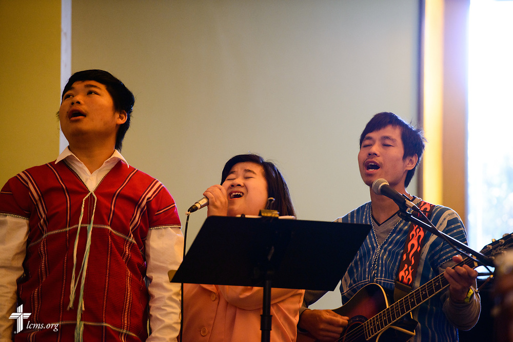 Musicians sing during worship at New Vision Lutheran Church, Spokane, Wash., on Sunday, June 18, 2017, in Spokane. LCMS Communications/Erik M. Lunsford