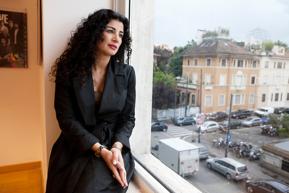 "Milan, Italy, May 30, 2013. Joumana Haddad, Lebanese writer, journalist and poet born in Beirut. Author of ""Superman is an arab""."