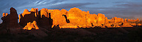 High resolution panoramic of the Windows section, Arches National Park, Utah, USA.