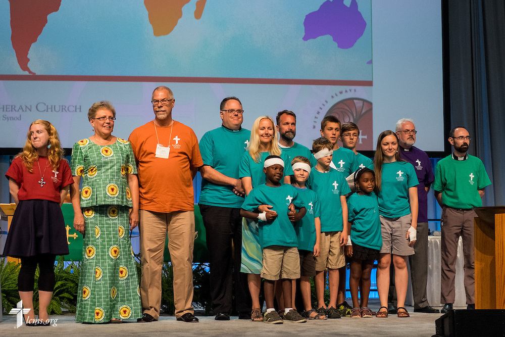 International missionaries are introduced Monday, July 11, 2016, at the 66th Regular Convention of The Lutheran Church–Missouri Synod, in Milwaukee. LCMS/Michael Schuermann