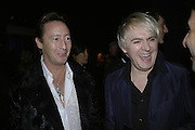 Nick Rhodes, Emporio Armani Red One Night Only. Brompton Hall, Earls Court. London. 21 September 2006.  . ONE TIME USE ONLY - DO NOT ARCHIVE  © Copyright Photograph by Dafydd Jones 66 Stockwell Park Rd. London SW9 0DA Tel 020 7733 0108 www.dafjones.com