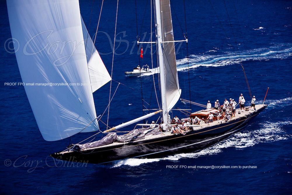 Hanuman  sailing during the Caribbean Superyacht Regatta and Rendezvous, race 2.
