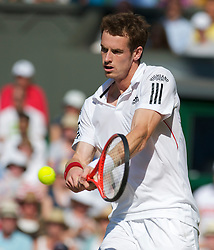 LONDON, ENGLAND - Monday, June 28, 2010: Andy Murray (GBR) during the Gentlemen's Singles 4th Round match on day seven of the Wimbledon Lawn Tennis Championships at the All England Lawn Tennis and Croquet Club. (Pic by David Rawcliffe/Propaganda)