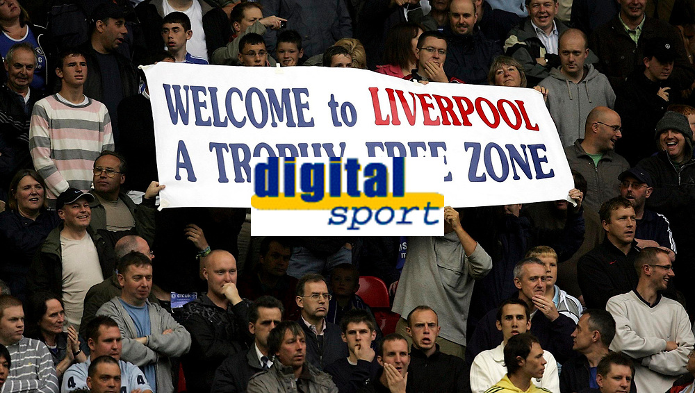 Photo: Paul Thomas.<br /> Liverpool v Chelsea. The FA Barclays Premiership. 19/08/2007.<br /> <br /> Chelsea banner.