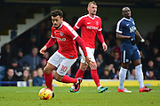 Charlton Athletic striker Nicky Ajose (10) in action during the EFL Sky Bet League 1 match between Southend United and Charlton Athletic at Roots Hall, Southend, England on 31 December 2016. Photo by Jon Bromley.