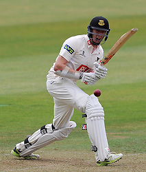 Sussex's Luke Wells flicks the ball on his way to a half century. - Photo mandatory by-line: Harry Trump/JMP - Mobile: 07966 386802 - 05/07/15 - SPORT - CRICKET - LVCC - County Championship Division One - Somerset v Sussex- The County Ground, Taunton, England.