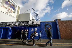 General View as fans arrive at Goodison Park before the match - Photo mandatory by-line: Rogan Thomson/JMP - 07966 386802 - 10/01/2015 - SPORT - FOOTBALL - Liverpool, England - Goodison Park - Everton v Manchester City - Barclays Premier League.
